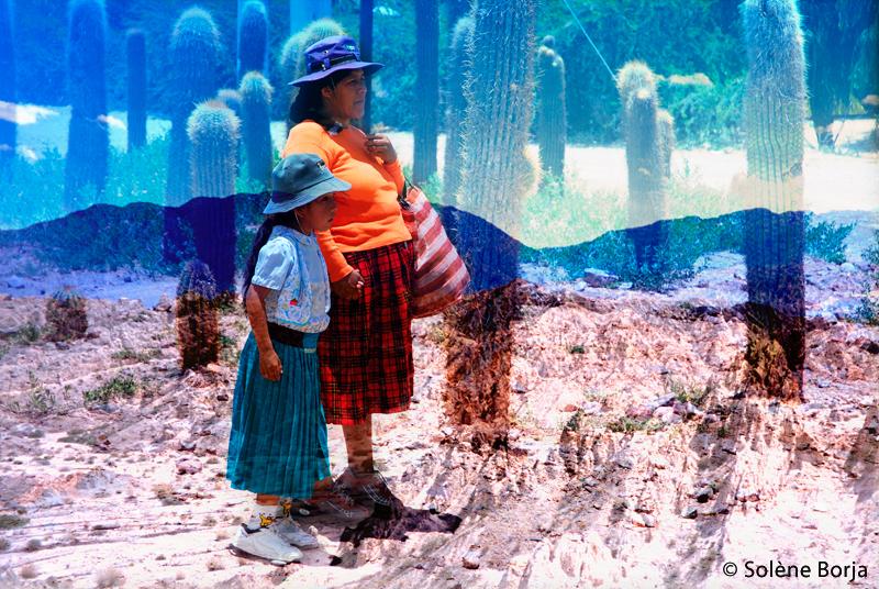 Mère et fille - Cordillère des Andes