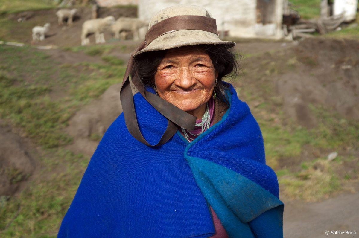 Femme dans l'Altiplano